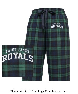 Youth Drawstring Flannel Pants Design Zoom
